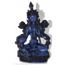 Green Tara Statue 20 cm Resin blue