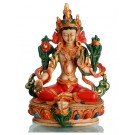 Green Tara Figur painted