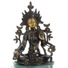 Green Tara Dark Brass 39cm