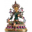 Green Tara 48 cm fullygold plated