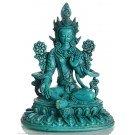 Grüne Tara Statue 24 cm Resin türkis