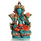 Green Tara Statue 10 cm Resin turquoise painted