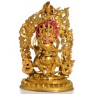 Mahakala 26 cm fully fire-gilded Buddha Statue