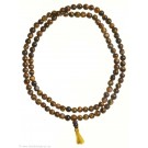 Mala Tiger eye 7 mm yellow tassel