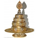 Mandala silver-plated 24 height