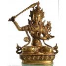Manjushri 32 cm brass