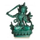 Manjushri Buddha Statue 15 cm Resin turquoise