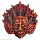 Mahakala Mask 14 cm Resin painted