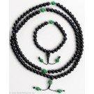 hand mala black onxy jade