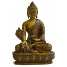 Medicine Buddha Statue 13,5 cm Resin bonecoloured