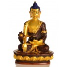 Medicine Buddha 20 cm  Statue Resin golden