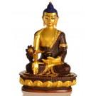 Medicine Buddha 20 cm  Statue Resin golden