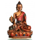 Medicine Buddha Statue 13,5 cm Resin coloured