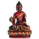 Medicine Buddha Statue 13,5 cm Resin brown painted