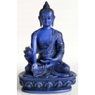 Medicine Buddha Statue 13,5 cm Resin blue