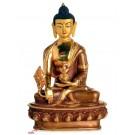 Medizinbuddha 21 cm teil feuervergoldet Buddha Statue