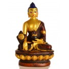 Medicine Buddha Statue 11,5 cm Resin coloured