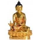 Medicine Buddha 20 cm fully gilt Buddha Statue