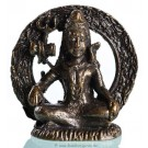 Statue mini Shiva sitting dark