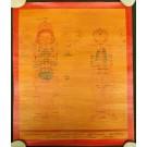 Tibetan Medicine Yoga Thangka smoked no. 12 -  39 x 47cm