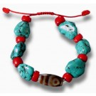 Bracelet turquoise with dZi Stone