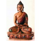Amitabha Buddha Statue Resin 13,5 cm painted