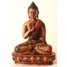Amoghasiddhi Buddha Statue 13,5 cm Resin painted