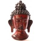 Buddha Mask 15 cm Resin braun