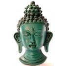 Buddha Mask 15 cm Resin turquoise