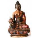 Medicine Buddha Statue 11,5 cm Resin coloured