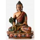 Medicine Buddha Statue 13,5 cm Resin coloured
