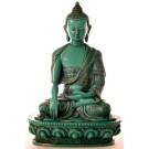 Akshobhya 19 cm Buddha Statue Resin turquoise