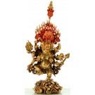 Akash-Bhairava 28 cm partly gilt Buddha Statue