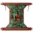 Meditation Buddhas plate