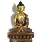 Amitabha 19 cm partly gilt Buddha Statue
