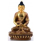 Amitabha Dhyani Buddha 15 cm partly gold plated