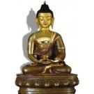 Amitabha 32 cm partly gilt Buddha Statue
