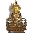 Aparimita / Amitayus 22 cm partly gilt Buddha Statue