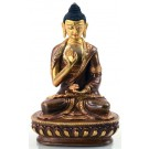 Amoghasiddhi 15 cm partly gilt Buddha Statue
