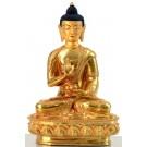 Amoghasiddhi 20 cm fully gilt Buddha Statue