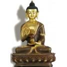 Amoghasiddhi 19 cm partly gilt Buddha Statue