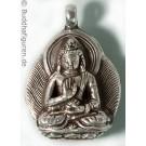 Silver Pendant Amoghasiddhi 25 mm