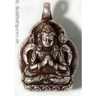 Silver Pendant Avalokiteshvara - Chenresi  25 mm