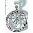 Silver Pendant Dharmachakra 25 mm