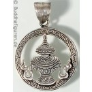 Silver Pendant Kalasha 25 mm