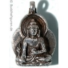 Silver Pendant Medicine Buddha 25 mm