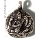 Silver Pendant Saraswati 25 mm
