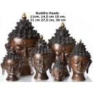 Buddha head  11 - 30 cm