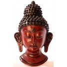 Buddha Mask 23 cm Resin brown