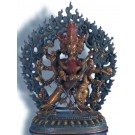 Chakrasambhava 18 cm  oxidized Buddha Statue